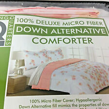 LivingQuarters Reversible Microfiber Down-Alternative Botanical Comforter