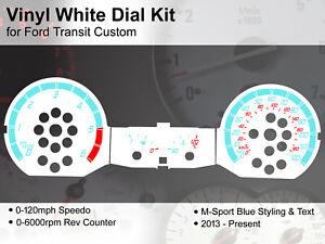 Ford Transit Custom (2013 - 2020) - 120mph M Sport Design - Vinyl White Dial Kit