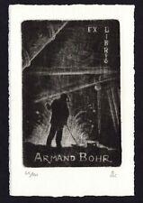 39)Nr.070-EXLIBRIS- Andre Kremer, signiert, C7 - Schabkunst , Auflage: 65/100