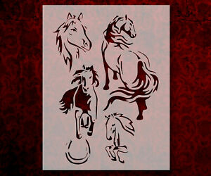"""Horse Horses Mare Stud Stallion Equine 8.5"""" x 11"""" Stencil FREE SHIPPING (748)"""