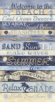 Welcome To the Beach Panel # C8286-MULT Timeless Treasures 24 in x 44 in Cotton
