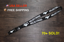 Ford Mustang Lanyard Car Phone Keychain ID Tag Quick Release GT 5.0 V8 V6 Coyote