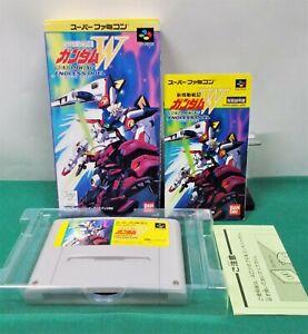 SNES -- GUNDAM WING W ENDLESS DUEL -- Box. Super Famicom, JAPAN Game. 15957