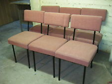 6 x DDR Stuhl / Polsterstuhl - rosa - Midcentury - Rockabilly - um 1950/60