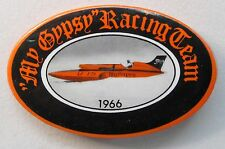 1966 MY GYPSY dated oval pinback button  Hydroplane Boat Racing