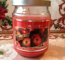 "Starlytes 18 oz Soy Blend Candle Apple Harvest Scented 5 1/2"" tall"