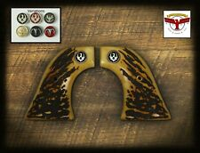 RUGER Magna-Tusk™ AGED STAG GRIPS ~ BLACKHAWK, VAQUERO, SINGLE SIX, WRANGLER QR