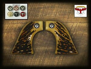 RUGER BLACKHAWK, VAQUERO, SINGLE SIX, WRANGLER ~ Magna-Tusk™ AGED STAG GRIPS