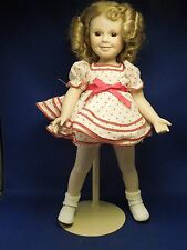 Vintage Danbury Mint Porcelain Shirley Temple Doll w/ Stand Stand Up & Cheer