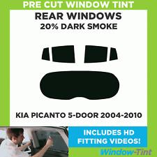 Pre Cut Window Tint - Kia Picanto 5-door Hatchback 2004-2010 - 20% Dark Rear