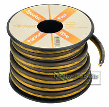 25 FT True 16 Gauge Awg Speaker Wire Pro Cable Orange Black Car Home Audio Spool