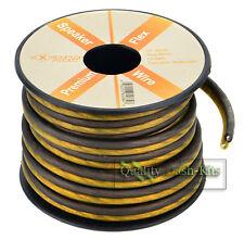 25 FT True 16 Gauge Awg Speaker Wire Pro Cable Orange Black Car Home Audio Spool