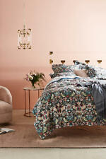 "New Anthropologie ""Strawberry Thief"" By Liberty ~   Birds 5PC Queen Bed Set"