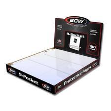 LOT OF 10 BCW 9-POCKET TRADING / BASEBALL CARD PAGES / COUPON BINDER SHEETS
