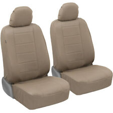 carXs Pu Leather Car Seat Covers for Front Seats, Beige (Fits: Seat)