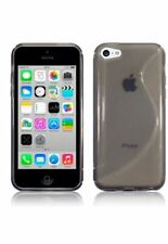 Slim Rubber Smoke Grey S-Curve TPU Gel Back Case Cover for Apple iPhone 5C