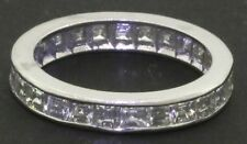 Platinum elegant 2.50CT VS/G Asscher cut diamond eternity band ring size 6.5