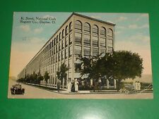 ZU516 Vintage 1916 Postcard K. Street National Cash Register Co Dayton Ohio