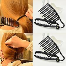 Black Women DIY Hair Styling Updo Bun Comb Clip Set For Hair French Twist Maker