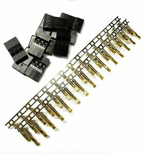 Universal Battery Servo Connector for JR Hitec Male Wire Plug Gold Plated x 10