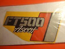 NOS OEM NEW FACTORY HONDA 1983 FT500 ASCOT RIGHT EMBLEM 87126-MC8-770ZB