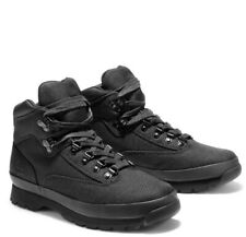 TIMBERLAND MEN'S EURO HIKER BLACK CORDURA® FABRIC BOOTS A15RX001 BRAND Size 11.5