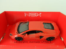 LAMBORGHINI AVENTADOR LP700-4 Welly Nex Modellauto Model Car Pull Back NEU & OVP