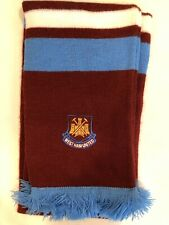WEST HAM UNITED HAMMERS SCARF EPL AUTHENTIC