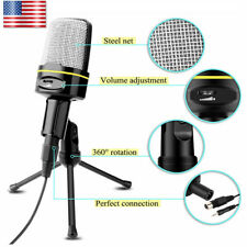 Professional Condenser Microphone Mic Studio Recording Mini Tripod Stand For PC