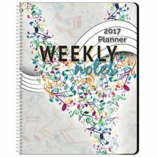 Daily Planner 2017 Year Monthly Weekly Organizer Appointment 7 Day Music Themed