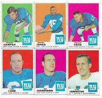 1969 Topps New York Giants Team Set with Fran Tarkenton