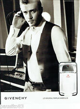 PUBLICITE ADVERTISING 096  2008  parfum  Play pour homme Givenchy J. Timberlake