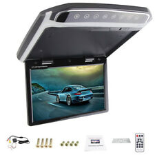 Flip Down Roof Mount Car Monitor Player Multimedia Video FM HDMI Atmosphere Lamp