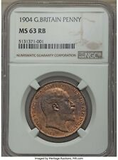 1904 Edward VII Penny NGC MS63 Red/Brown RB Great Britain