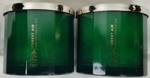 White Barn Candle: FOREST AIR by Bath Body Works Scented 3-wick Jars x2 Green