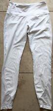 New PRJON Form Fitting Leggings Side Mesh White Medium MSRP: $138.00