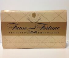 Vintage Brach & Sons Candy~FAME AND FORTUNE~ Milk Chocolates RETRO COOL DISPLAY