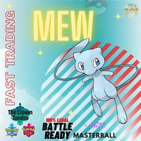 Pokémon Sword & Shield SQUARE SHINY MEW + MASTERBALL FAST TRADING