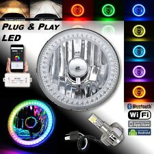 "5-3/4"" H5001 H5006 RGB SMD Color Chasing Halo Headlight 24w LED Lamp Bulb EACH"