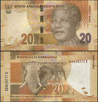 Afrique du Sud 20 Rand. NEUF ND (2012) Billet de banque Cat# P.134a