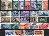 #1486 - Repubblica - Lotto di 27 francobolli, 1946/51 - Usati