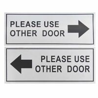 2-Pack Please Use Other Door Signs - Metal Please Use Other Door Signs Aluminum