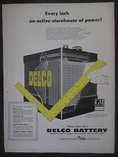 Delco GM Battery Original 1954 Original Vintage Print Ad