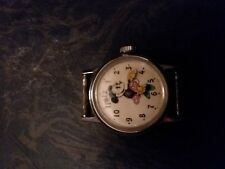 1950-60's Minnie Mouse Wind Up Manual Walt Disney Watch Face