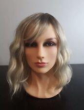 Platinum Pale Light Blonde Short Wavy Wig Or Sheitel