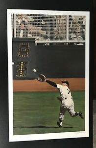 """RARE Mickey Mantle New York Yankees limited lithograph 31"""" x 20"""" Print #38 Mint"""