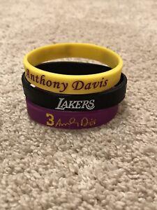 Anthony Davis Los Angeles Lakers NBA Wristband Bracelet Lot (3)