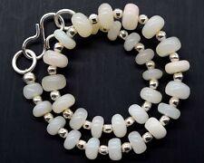 (eVB1053) Ethiopian Fire Opal Gemstone Rondelle Plain Beads  Bracelet