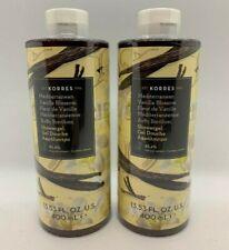 💥 2-PACK KORRES Mediterranean Vanilla Blossom ShowerGel 13.53 FL OZ 400 ml