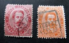 Italy-1879-Ten & Twenty Cent issues-Used